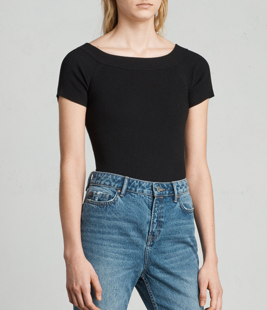 Damen Lavine Bandeau Top (black) - Image 3