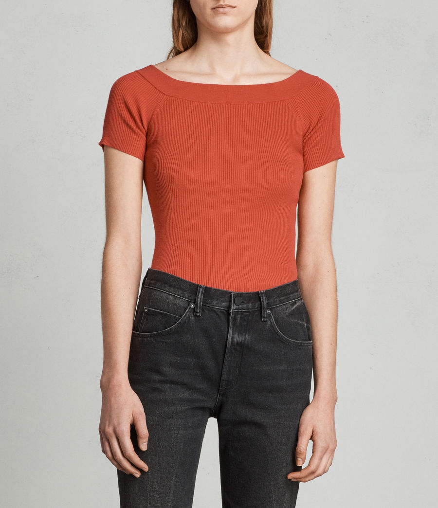 Women's Lavine Bandeau Top (poppy_red) - Image 1