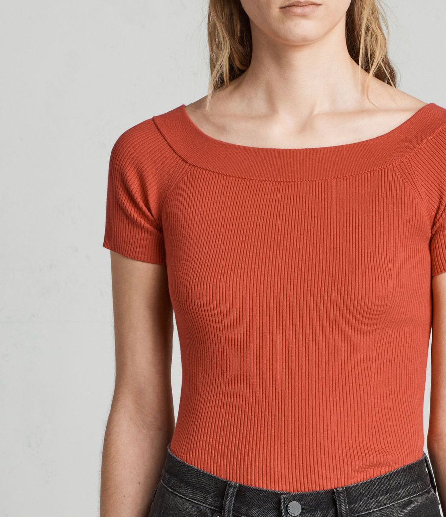 Women's Lavine Bandeau Top (poppy_red) - Image 2