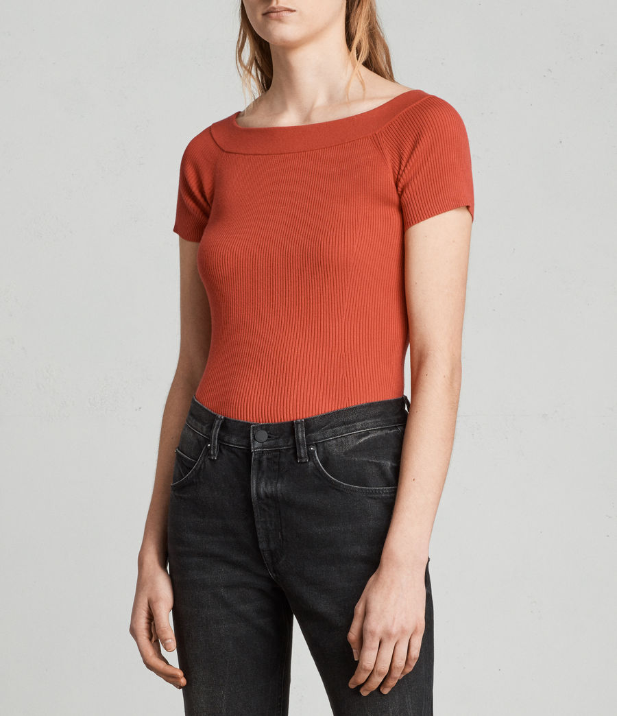Women's Lavine Bandeau Top (poppy_red) - Image 3