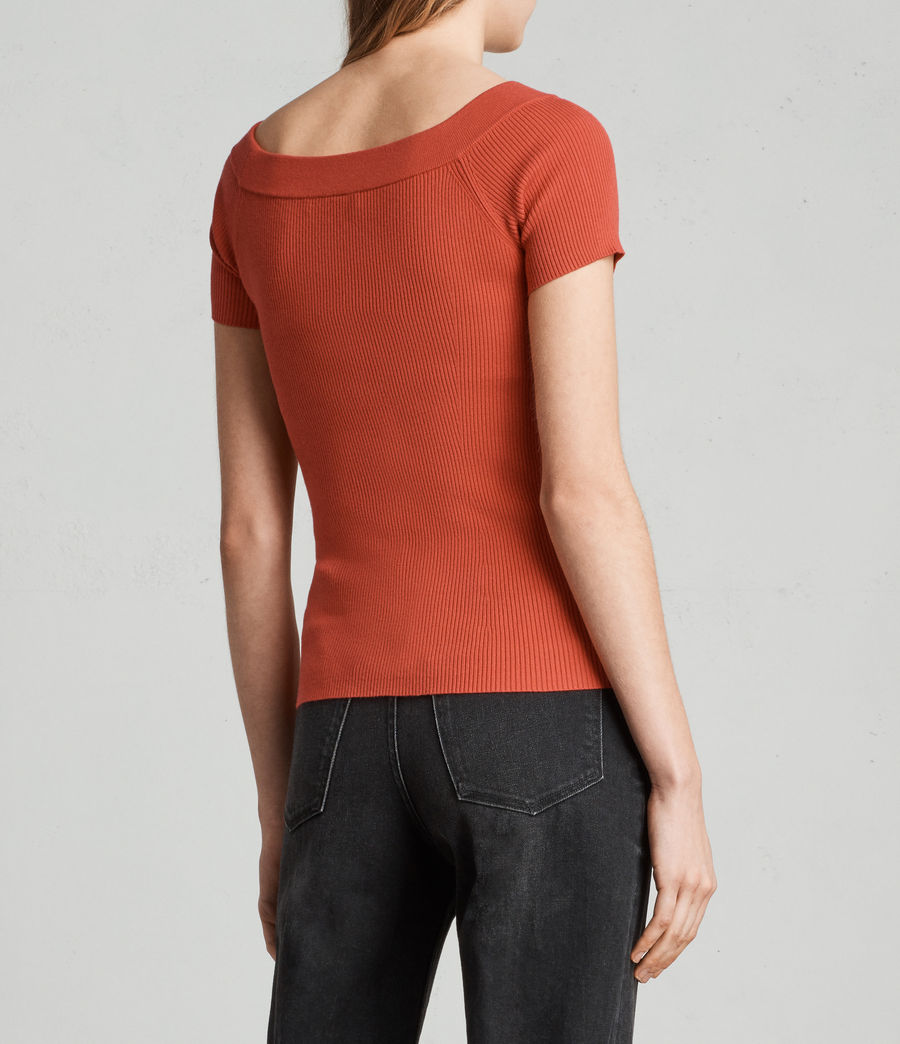 Women's Lavine Bandeau Top (poppy_red) - Image 4