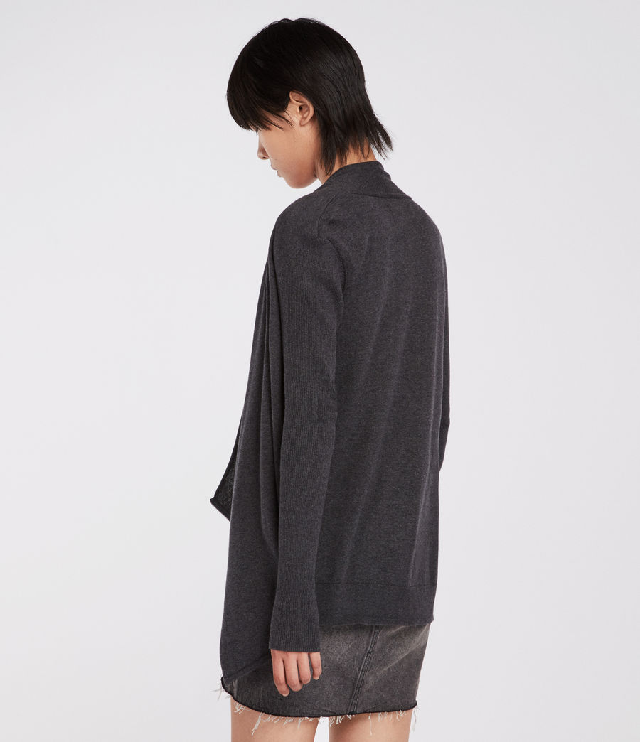 Women's Drina Cotton Cardigan (charcoal_grey) - Image 5