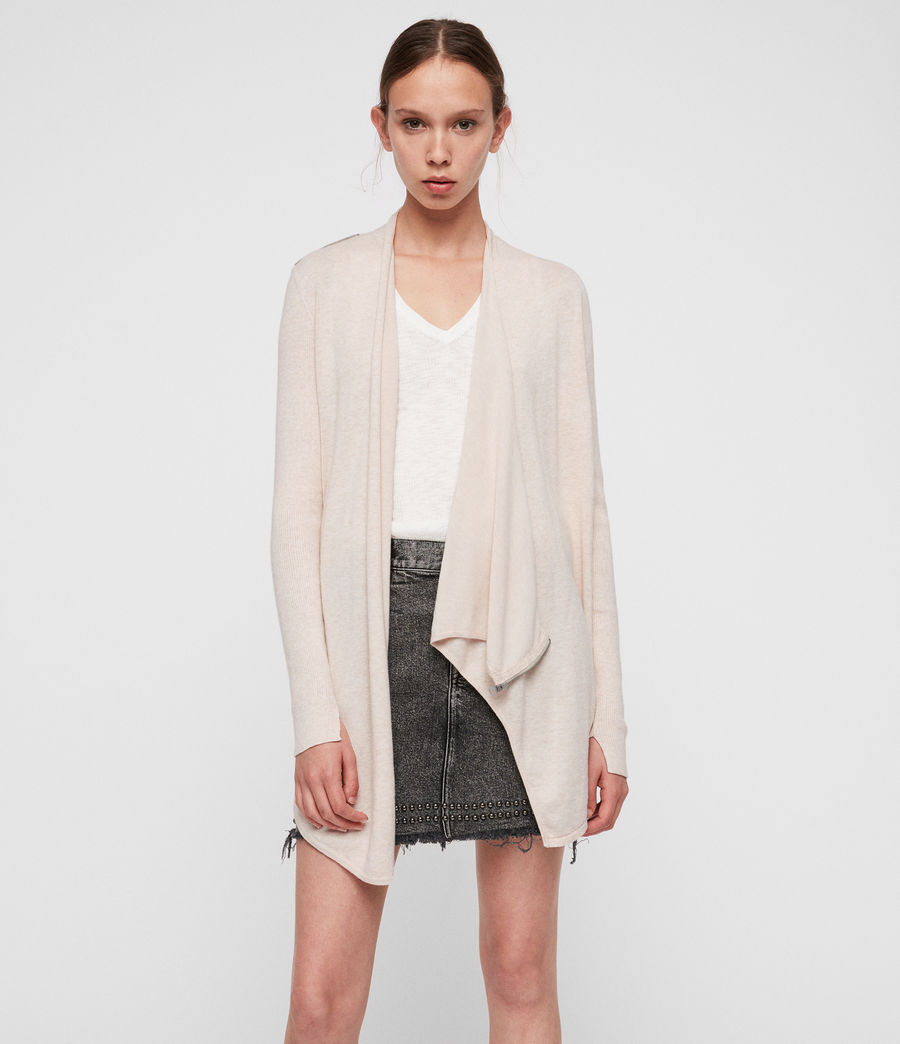 Women's Drina Cotton Cardigan (almond_pink) - Image 1