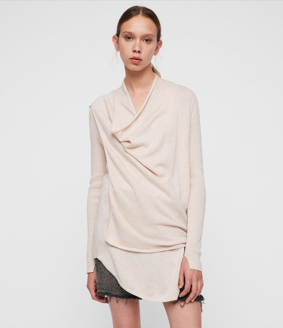 Women's Drina Cotton Cardigan (almond_pink) - Image 3