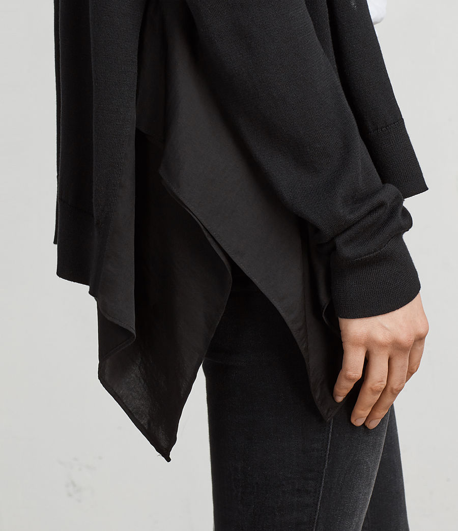 Womens Carmel Cardigan (black) - Image 2