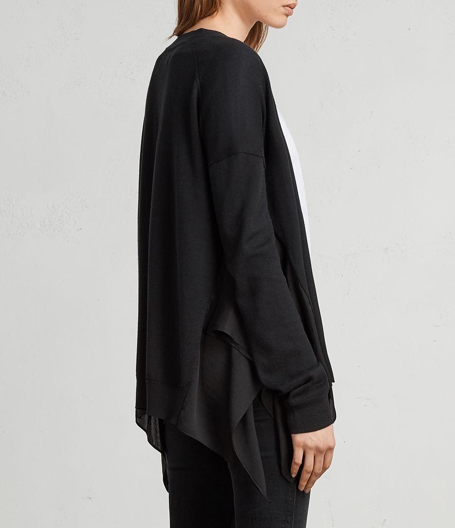 Womens Carmel Cardigan (black) - Image 4
