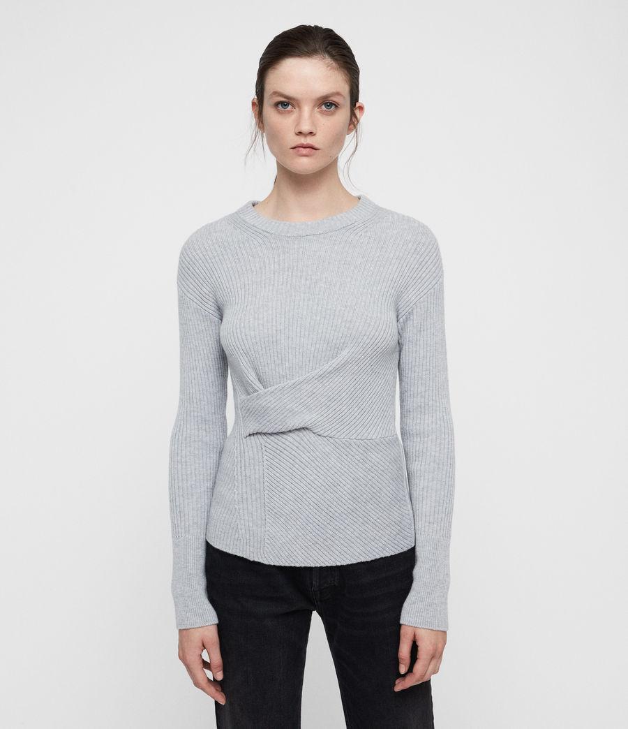 Womens Krista Cashmere Blend Sweater (grey_melange) - Image 1
