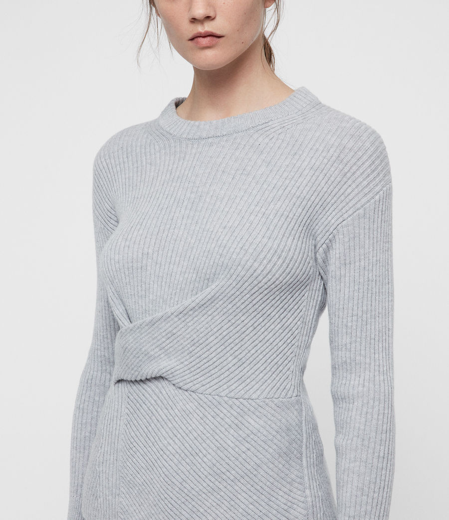 Womens Krista Cashmere Blend Sweater (grey_melange) - Image 2