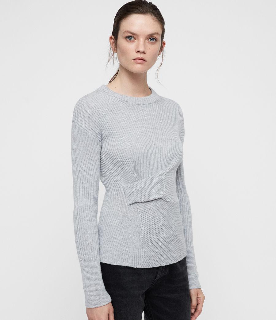 Womens Krista Cashmere Blend Sweater (grey_melange) - Image 3