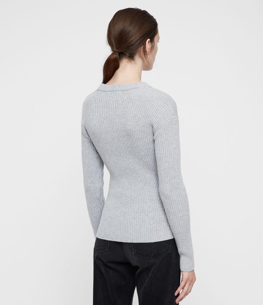 Womens Krista Cashmere Blend Sweater (grey_melange) - Image 4