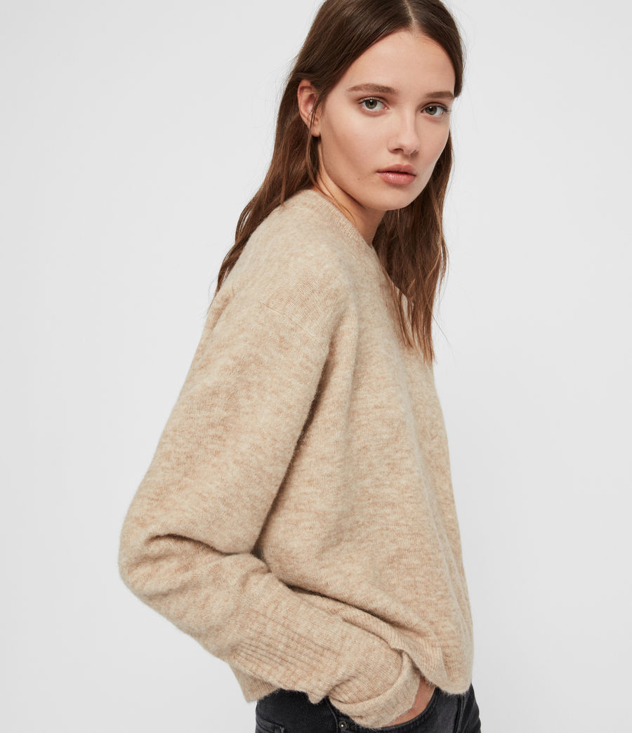 Womens Rue Sweater (oat_brown_marl) - Image 3