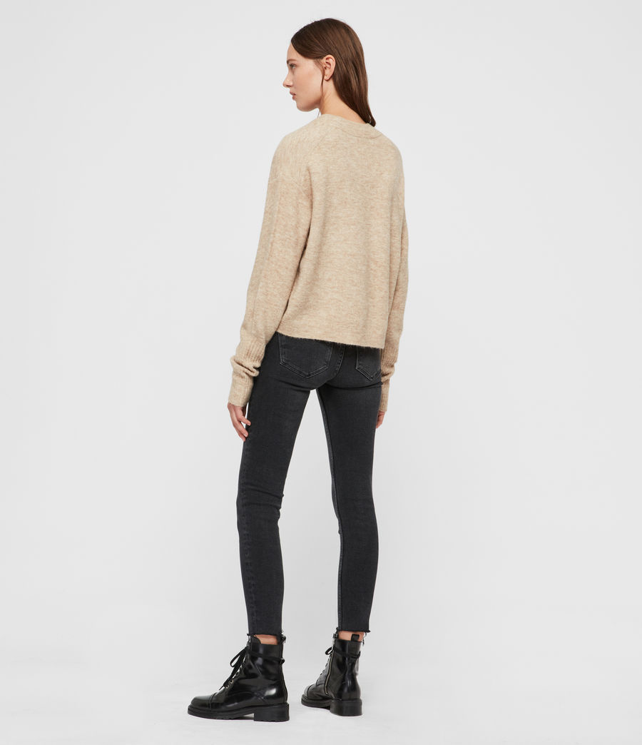 Womens Rue Sweater (oat_brown_marl) - Image 5