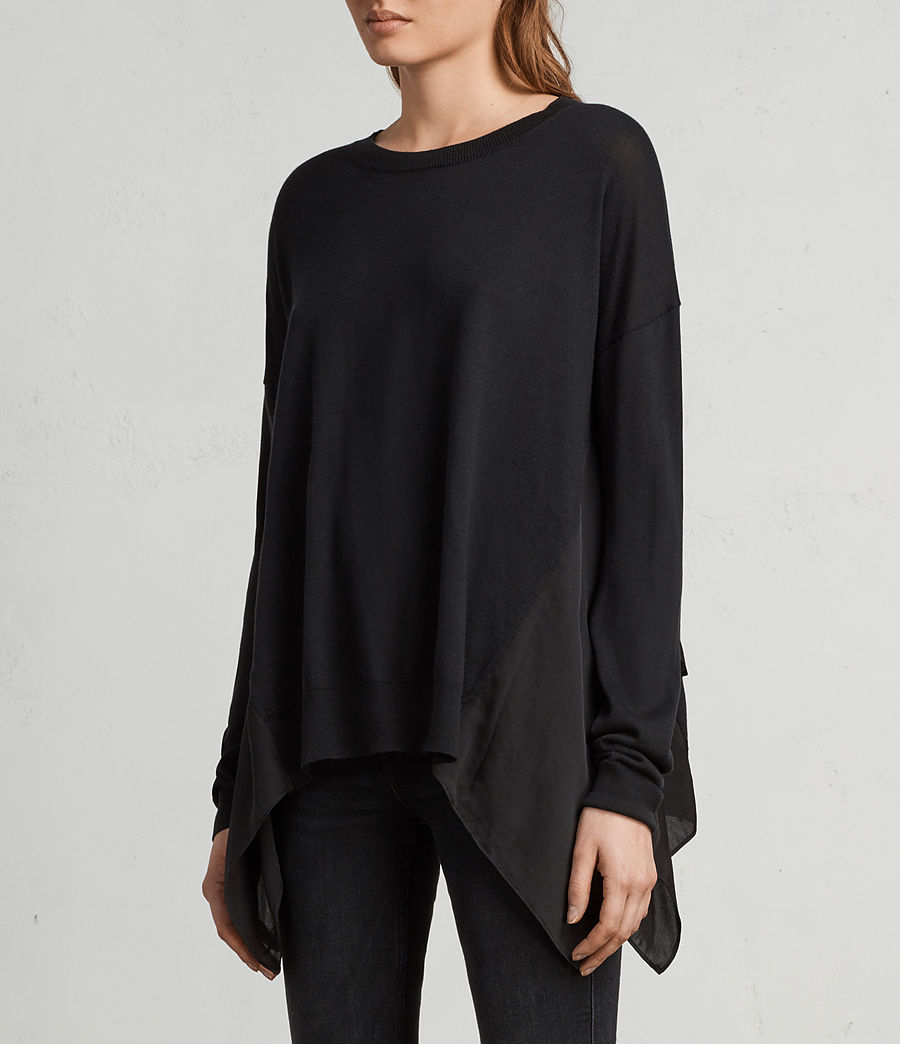 Womens Carmel Sweater (black) - Image 1