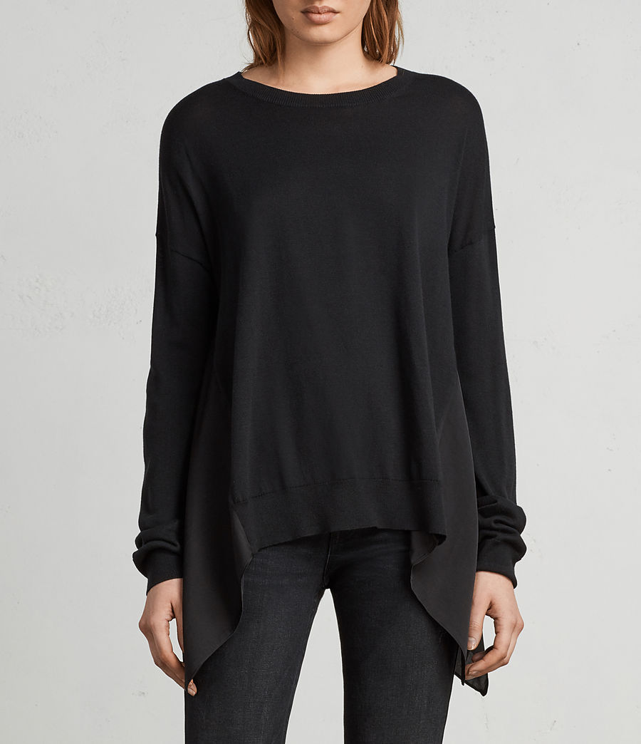 Womens Carmel Sweater (black) - Image 3