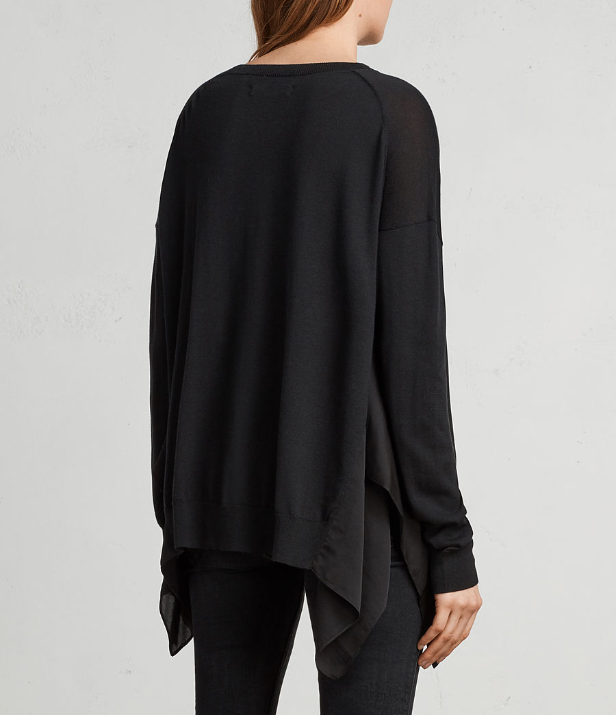 Womens Carmel Sweater (black) - Image 4