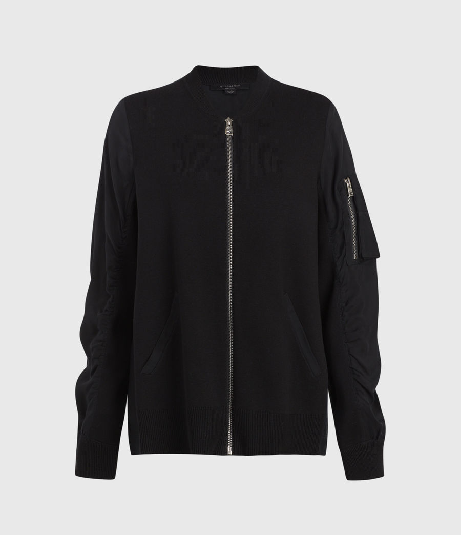 Mujer Maeve Zip Through Bomber Jacket (black) - Image 1