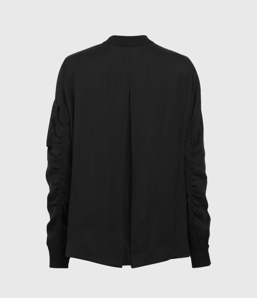 Mujer Maeve Zip Through Bomber Jacket (black) - Image 2