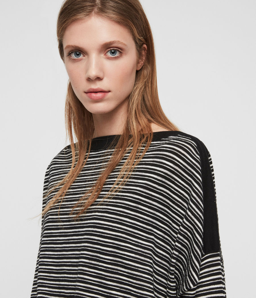 Women's Keya Stripe Jumper (black_chalk_white) - Image 3