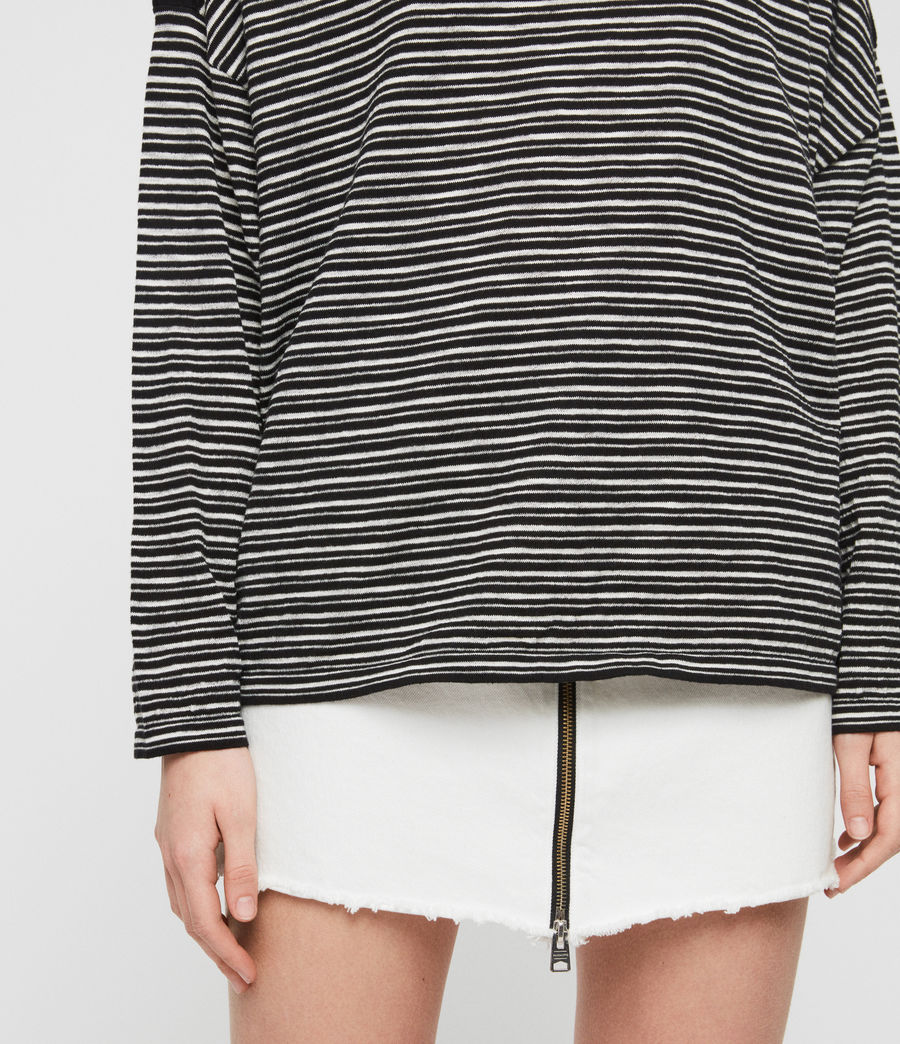 Women's Keya Stripe Jumper (black_chalk_white) - Image 4