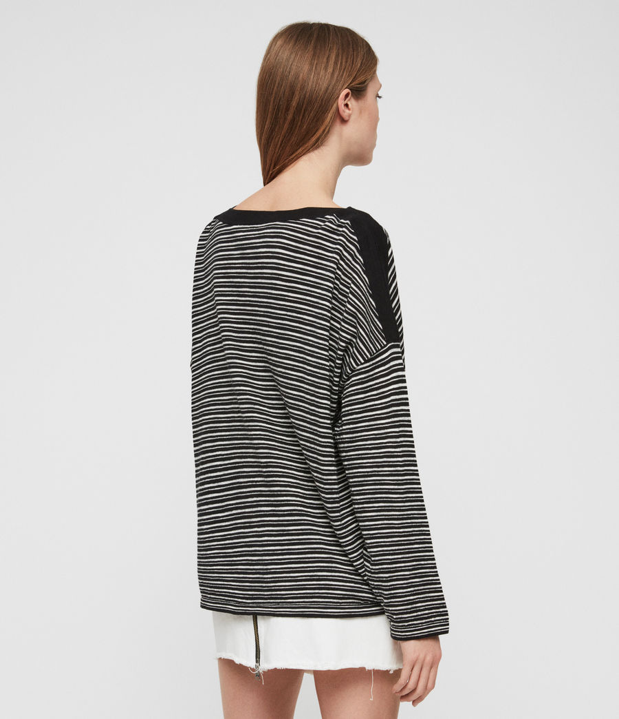 Women's Keya Stripe Jumper (black_chalk_white) - Image 5