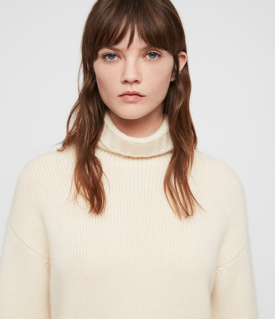 Women's Hanbury Funnel Neck (chalk_white) - Image 2