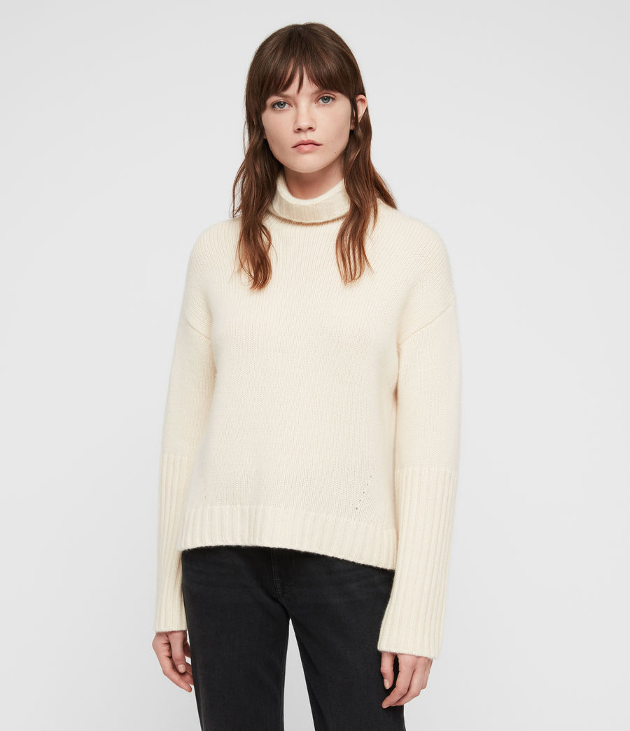 Women's Hanbury Funnel Neck (chalk_white) - Image 3