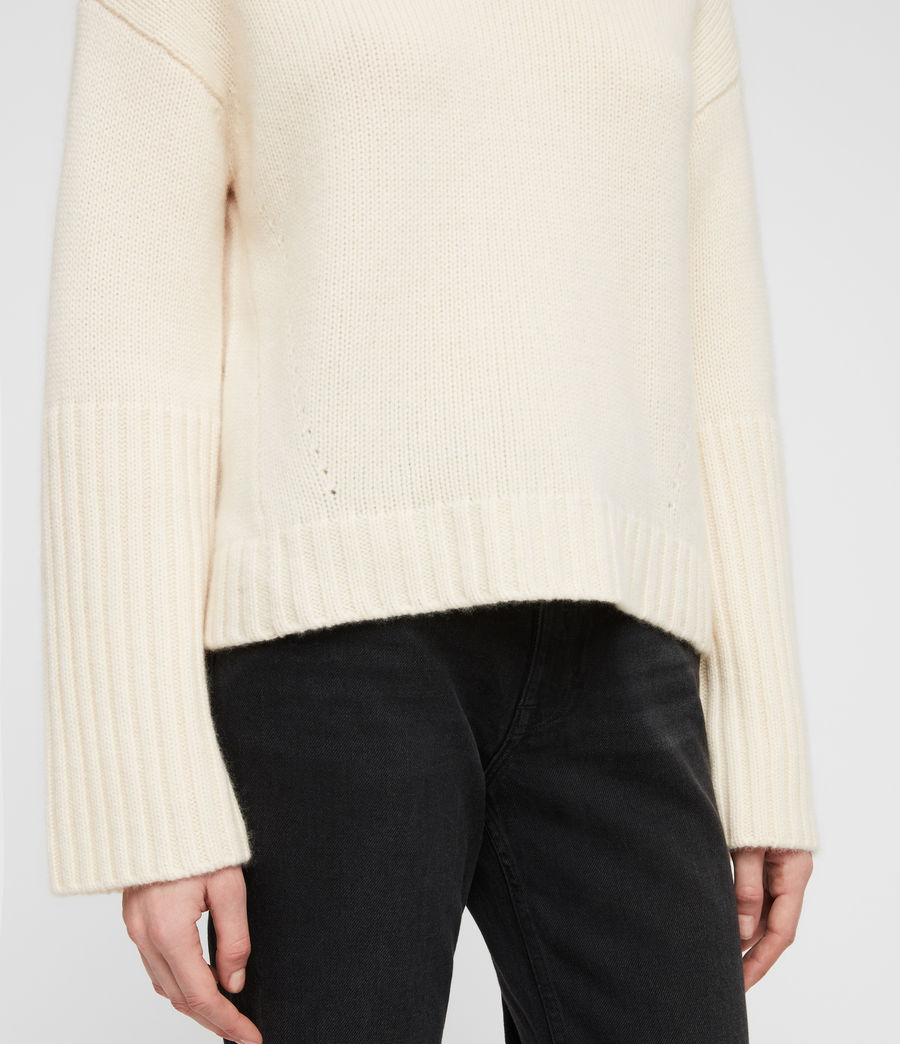 Women's Hanbury Funnel Neck (chalk_white) - Image 4