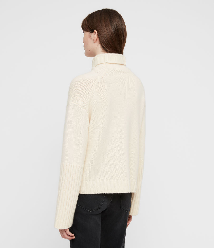 Women's Hanbury Funnel Neck (chalk_white) - Image 5