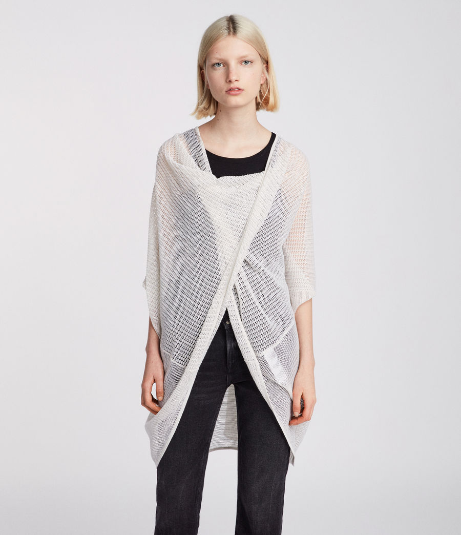 Womens Itat Twist Knit Top (parchment_white) - Image 3