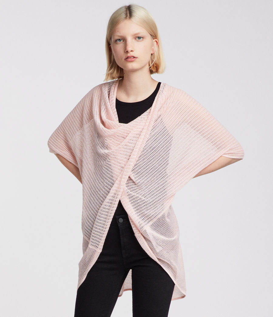 Women's Itat Twist Knit Top (candy_pink) - Image 1