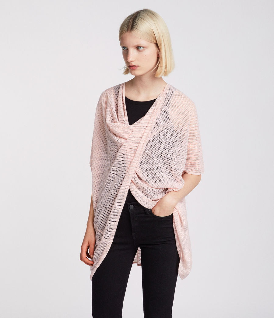 Women's Itat Twist Knit Top (candy_pink) - Image 2
