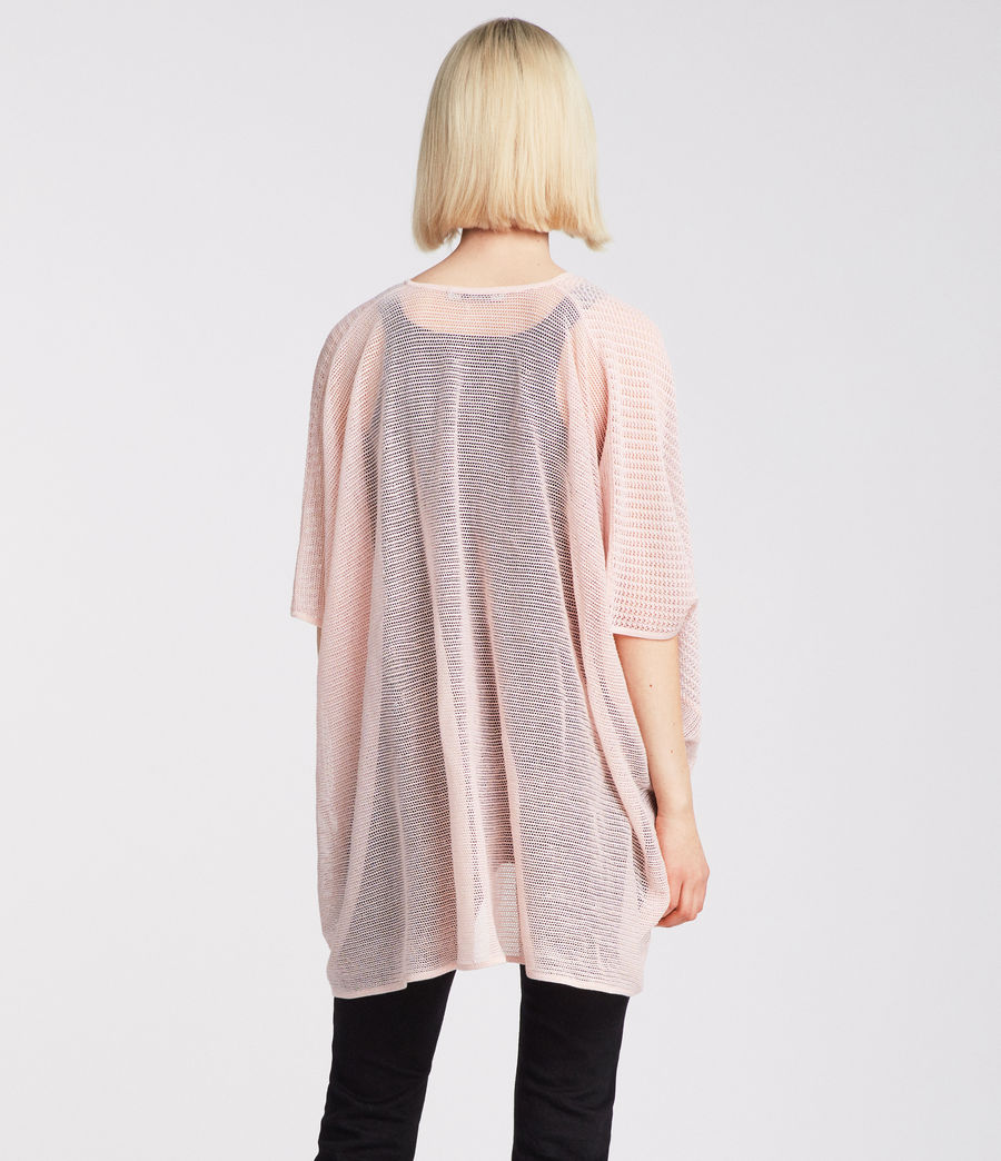 Women's Itat Twist Knit Top (candy_pink) - Image 3