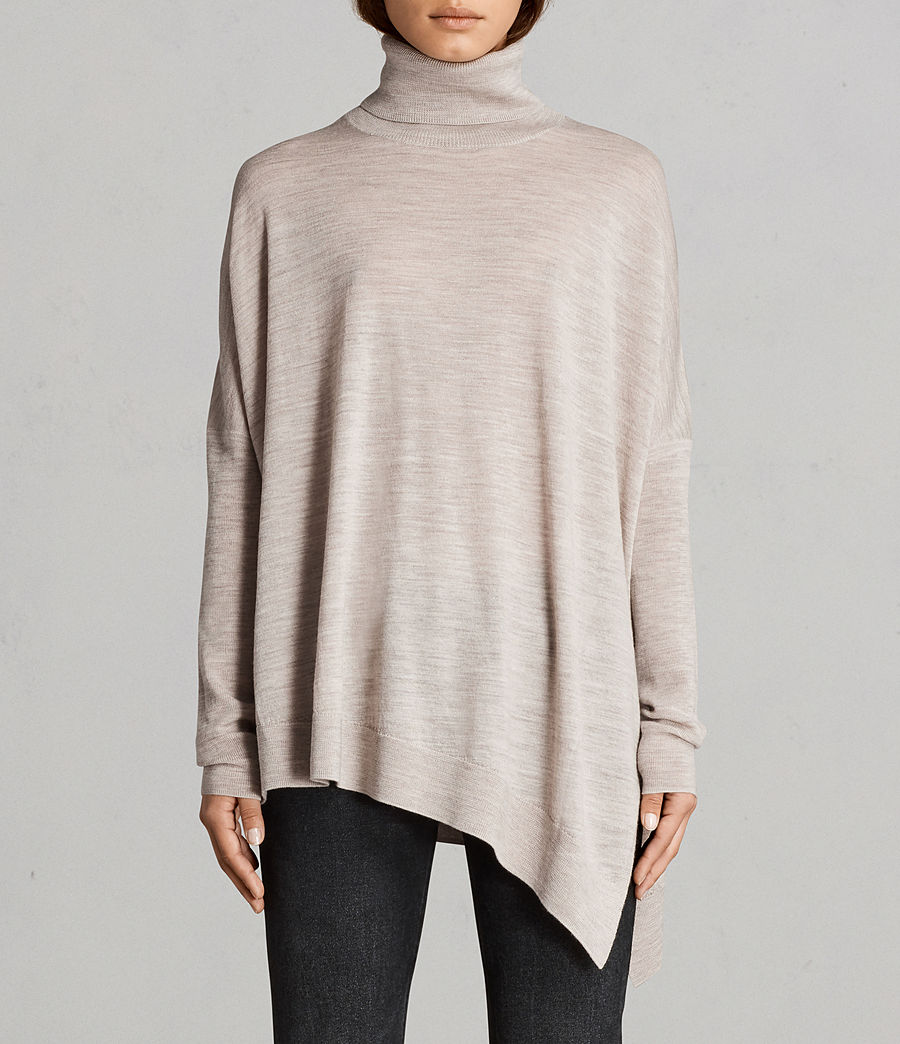 Womens Iris Merino Sweater (oatmeal_brown) - Image 1
