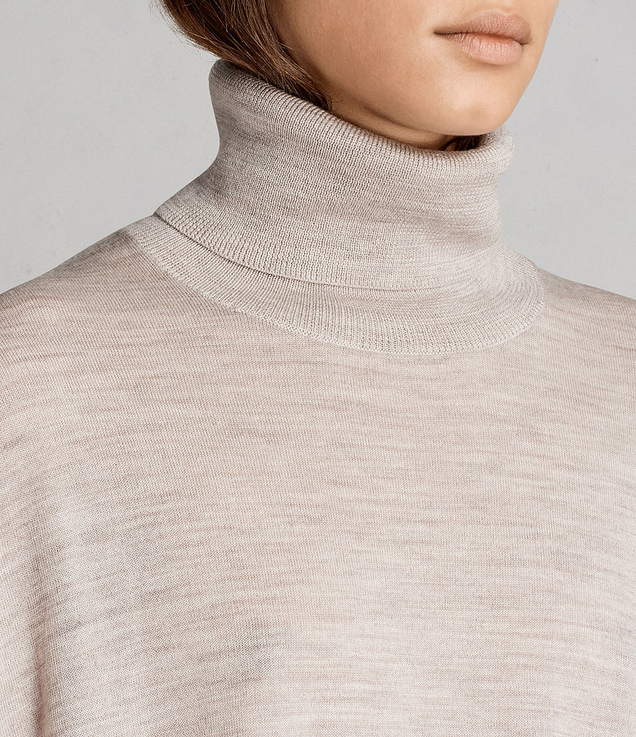 Womens Iris Merino Sweater (oatmeal_brown) - Image 2