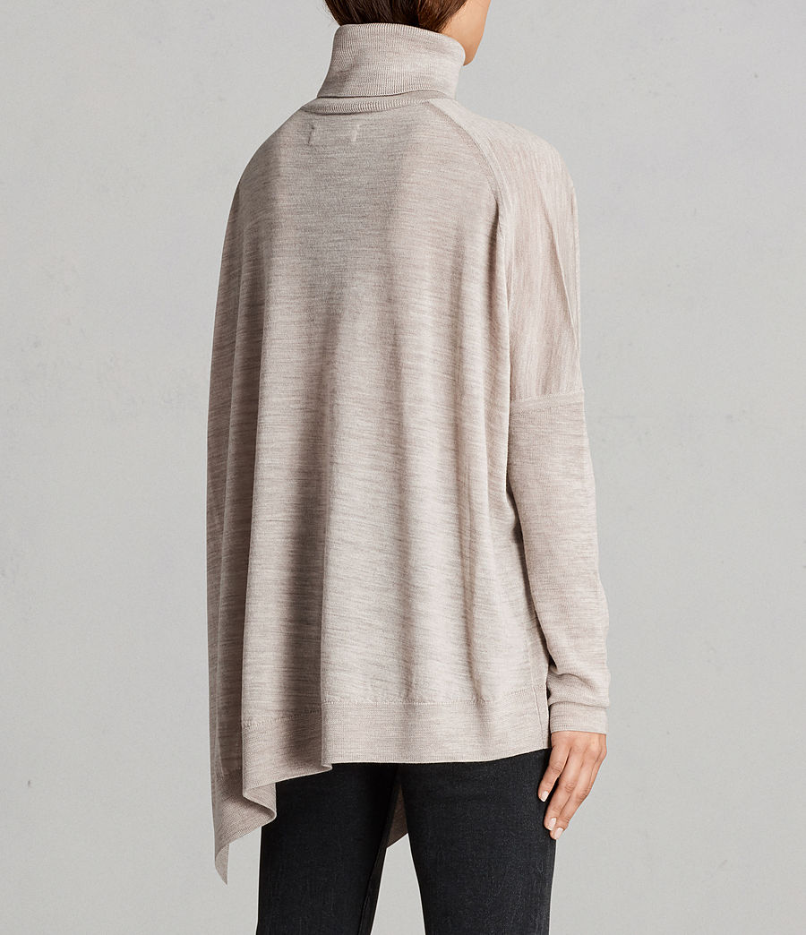 Womens Iris Merino Sweater (oatmeal_brown) - Image 5