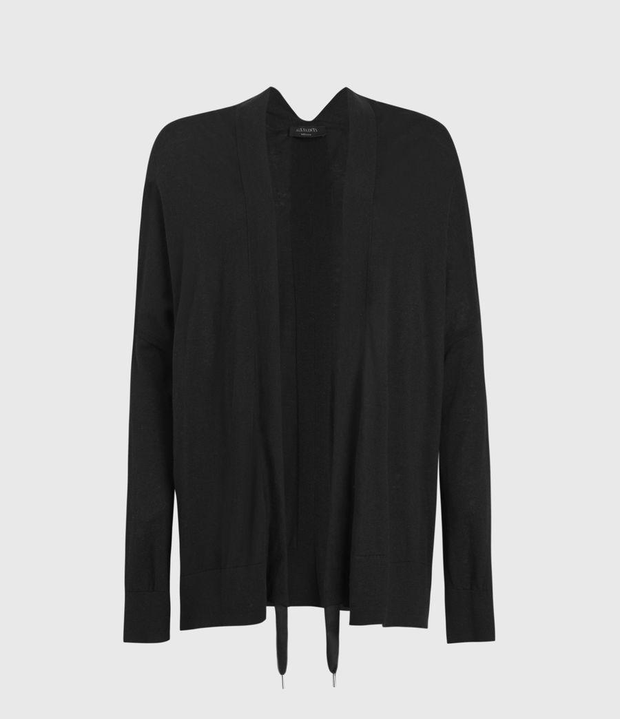 Donne Ronnie Linen Blend Cardigan (black) - Image 1