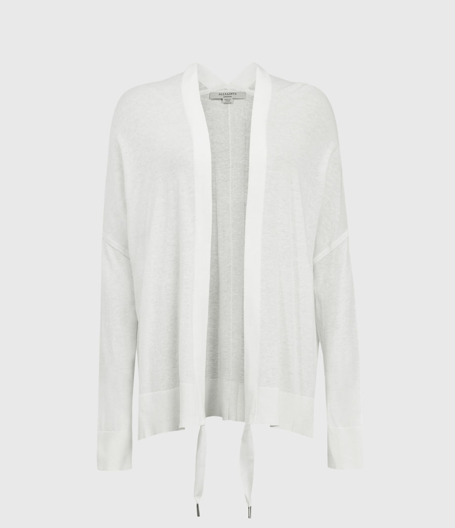 Women's Ronnie Linen Blend Cardigan (paper_white) - Image 1