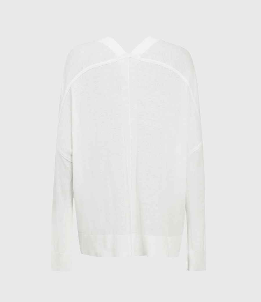 Womens Ronnie Linen Blend Cardigan (paper_white) - Image 2
