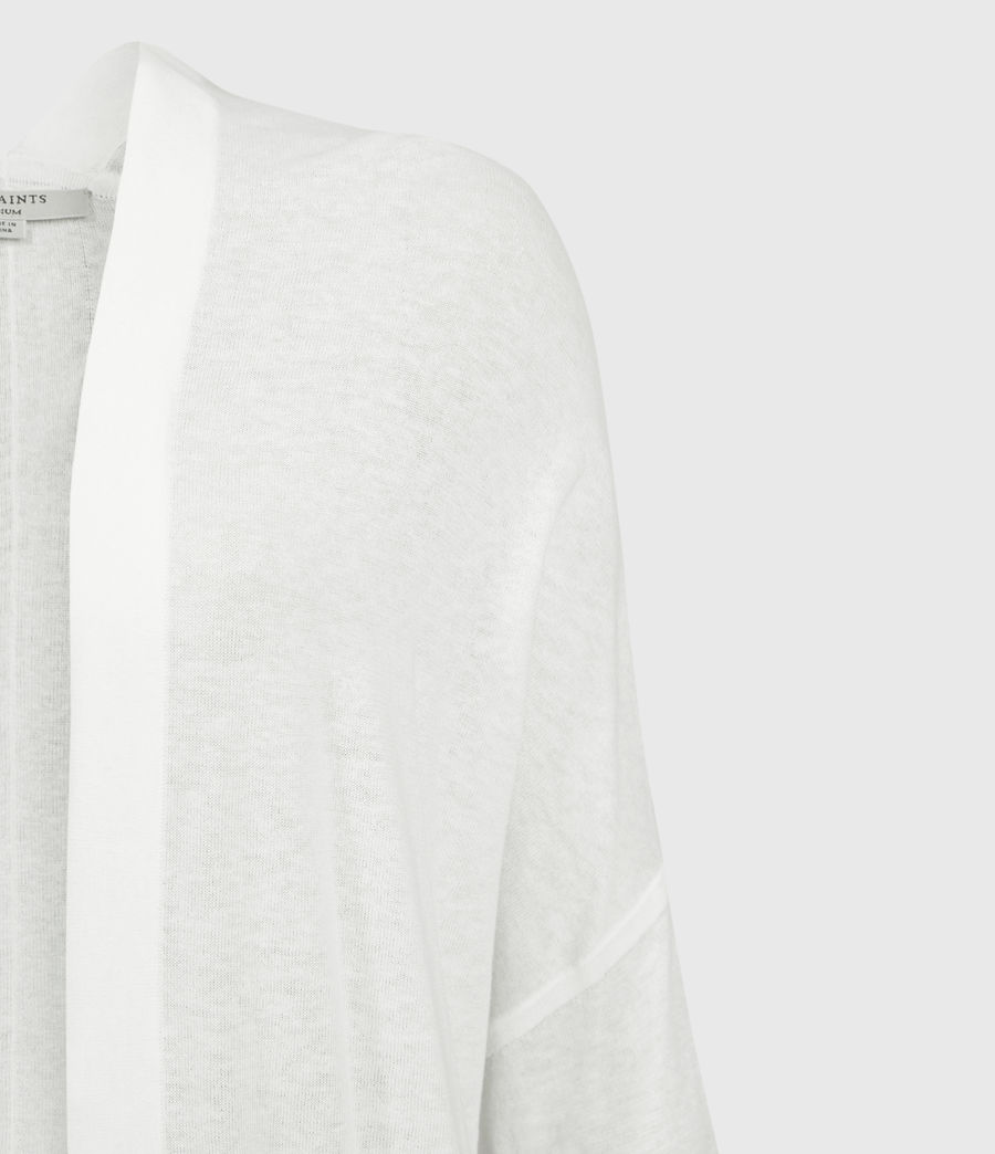 Womens Ronnie Linen Blend Cardigan (paper_white) - Image 3