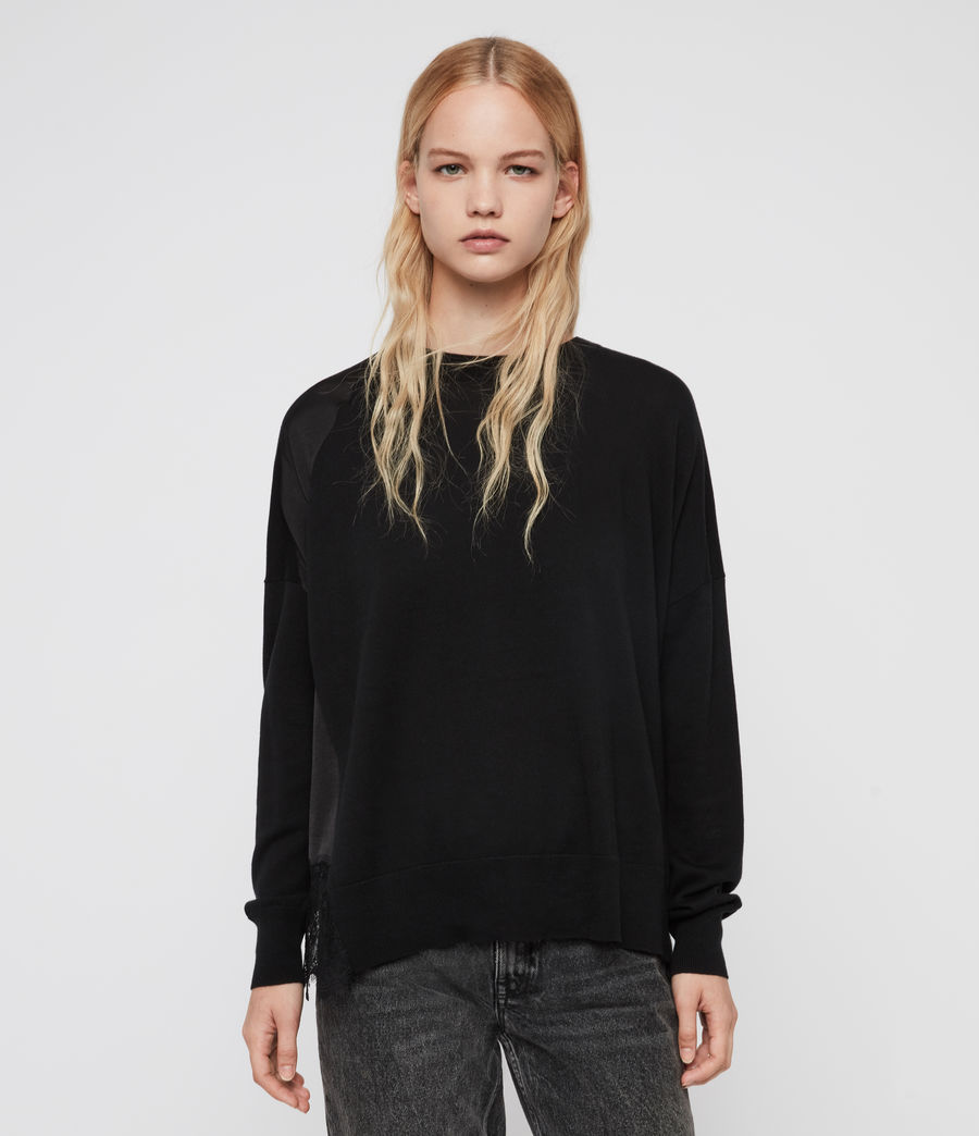 Womens Paola Sweater (black) - Image 2