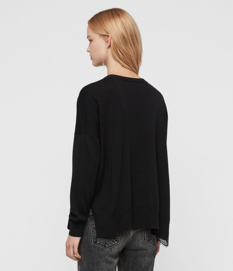 Womens Paola Sweater (black) - Image 5