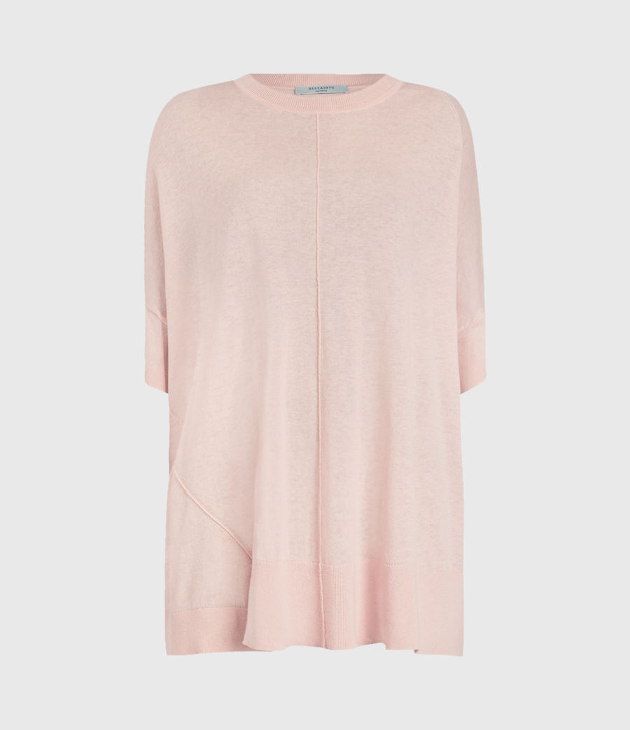 Womens Della Linen Blend Top (shell_pink) - Image 1