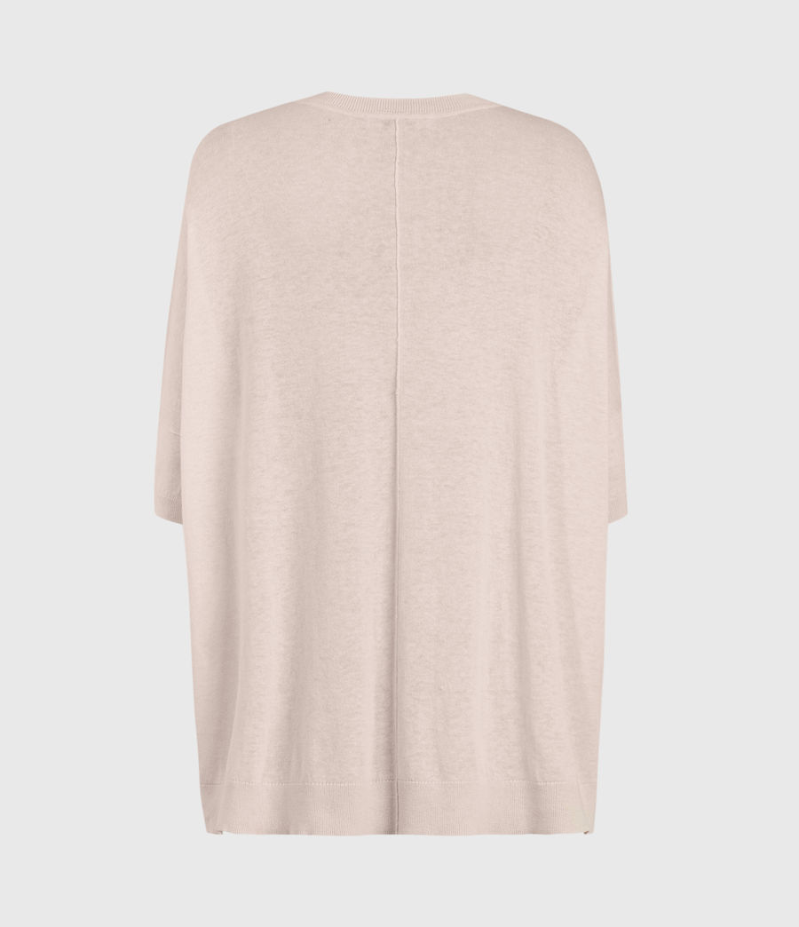 Womens Della Linen Blend Top (shell_pink) - Image 2