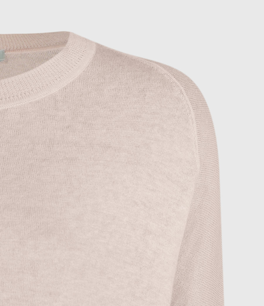 Women's Della Linen Blend Top (shell_pink) - Image 3