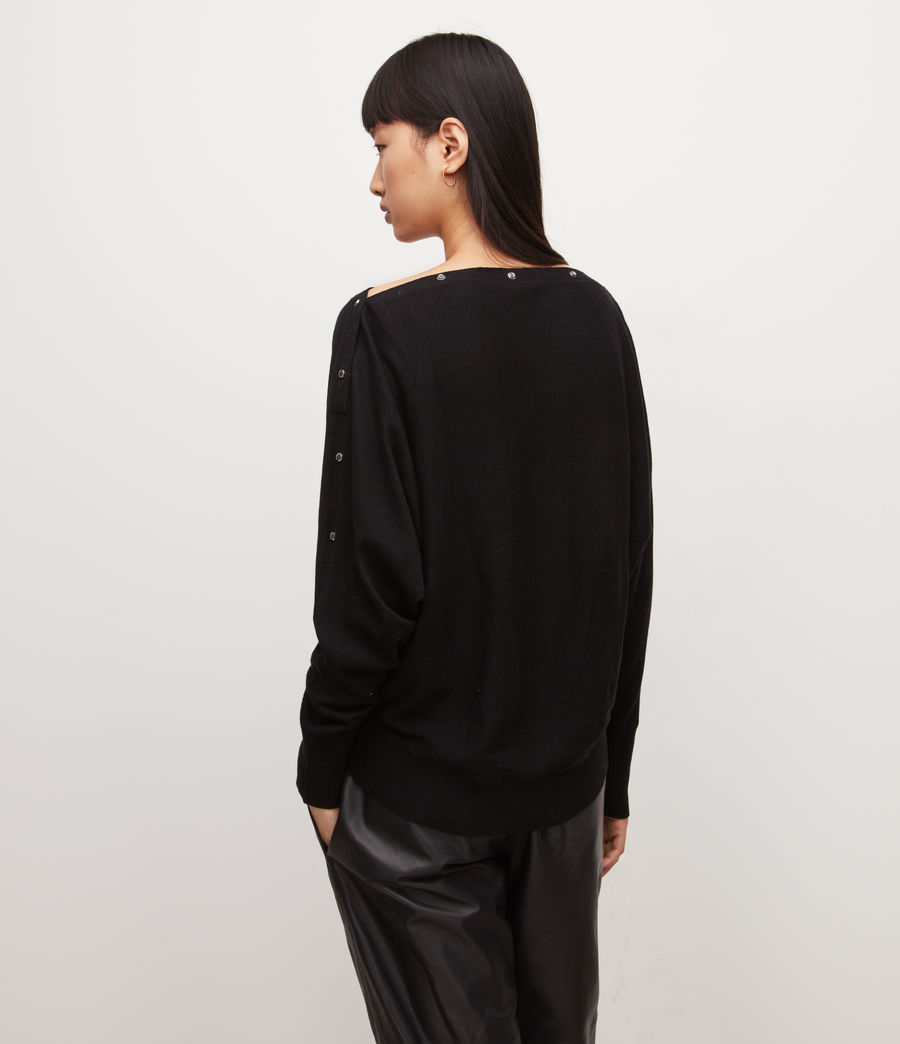 Womens Eli Sweater (black) - Image 5