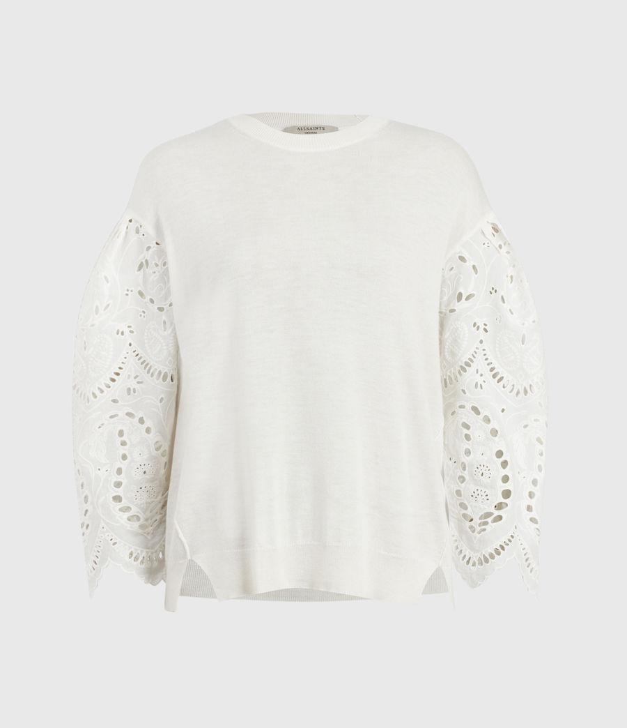 Womens Skye Essie Silk Blend Sweater (paper_white) - Image 2