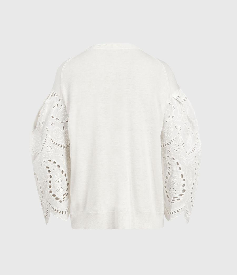 Mujer Skye Essie Silk Blend Sweater (paper_white) - Image 3