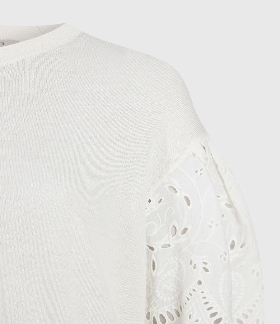 Womens Skye Essie Silk Blend Sweater (paper_white) - Image 4