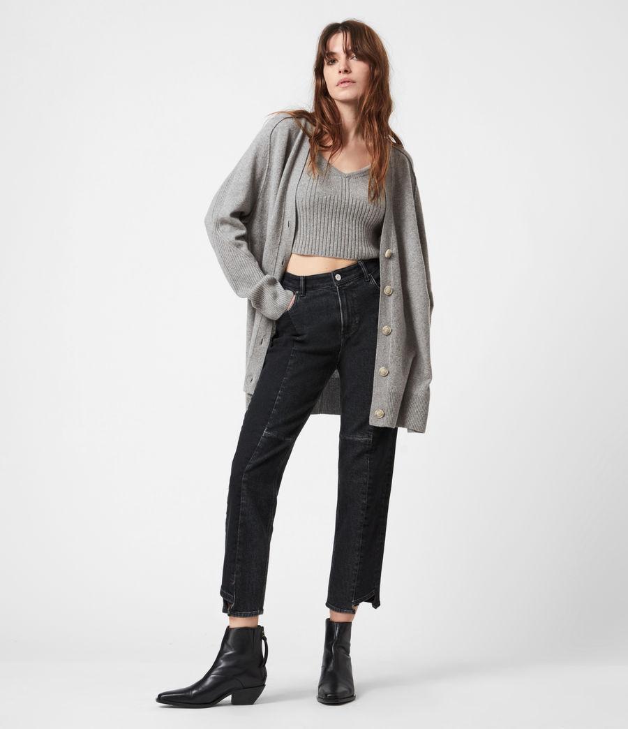 Womens Ivana Cashmere Blend Crop Top (pale_grey_marl) - Image 4