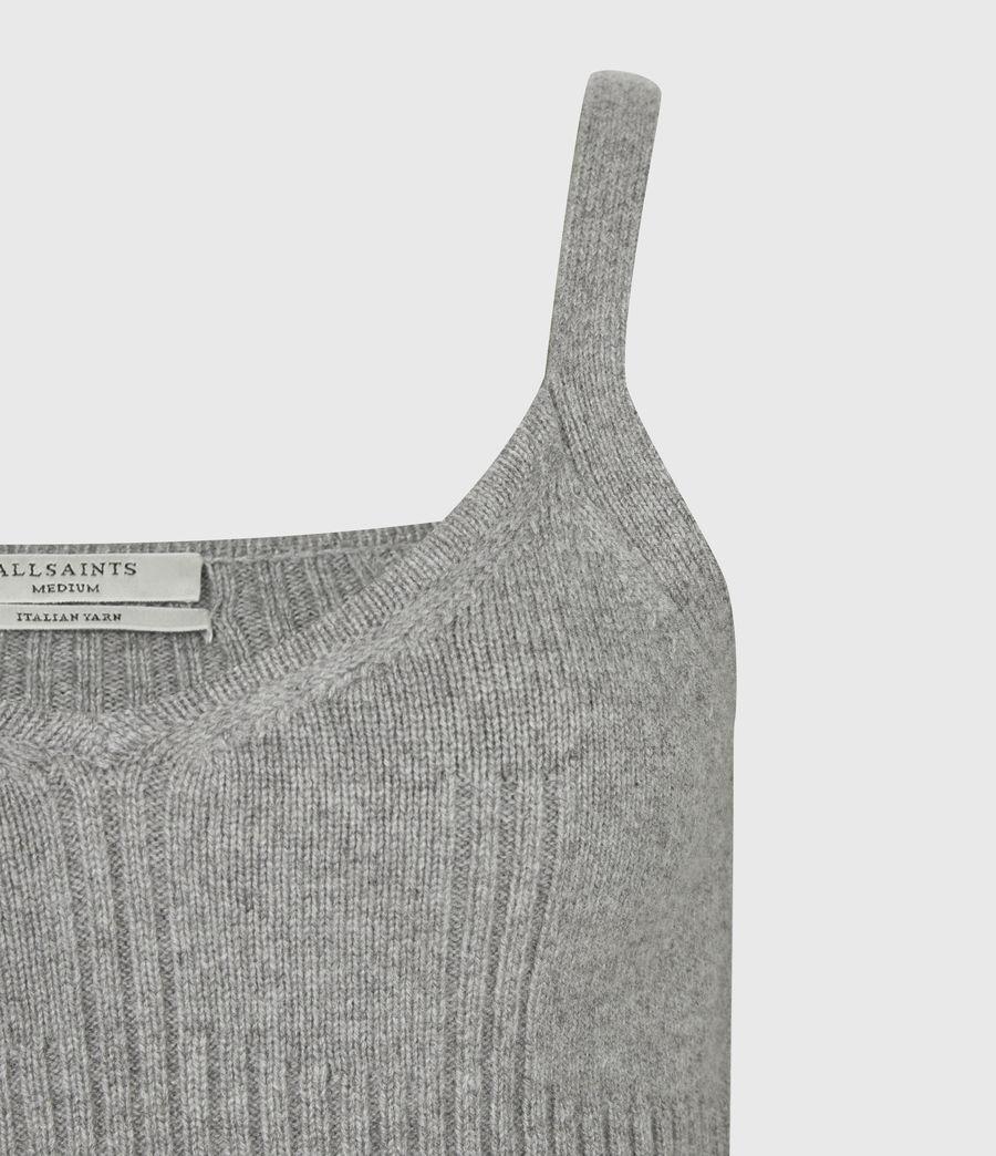 Womens Ivana Cashmere Blend Crop Top (pale_grey_marl) - Image 5